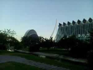 Giardino Turia al tramonto