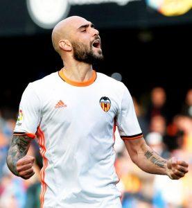 Simone Zaza giocatore del Valencia